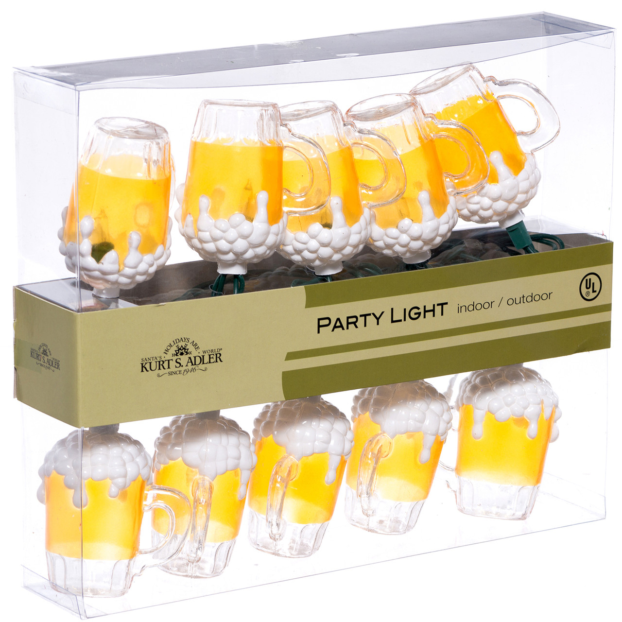 Beer Party String Lights : Beer Mug Party Light String - Beer Lights - RetroFestive.ca