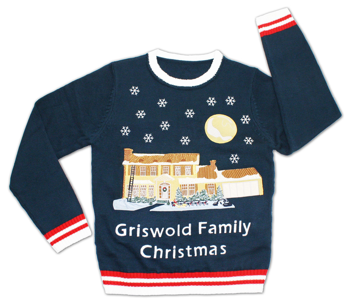 Christmas Vacation Lighted Griswold House Ugly Christmas Sweater ...