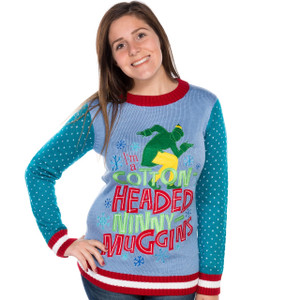 Women's Elf the Movie Cotton Headed Ninny Muggins Sweater