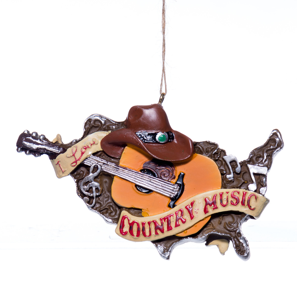I Love Country Music Christmas Tree Ornament