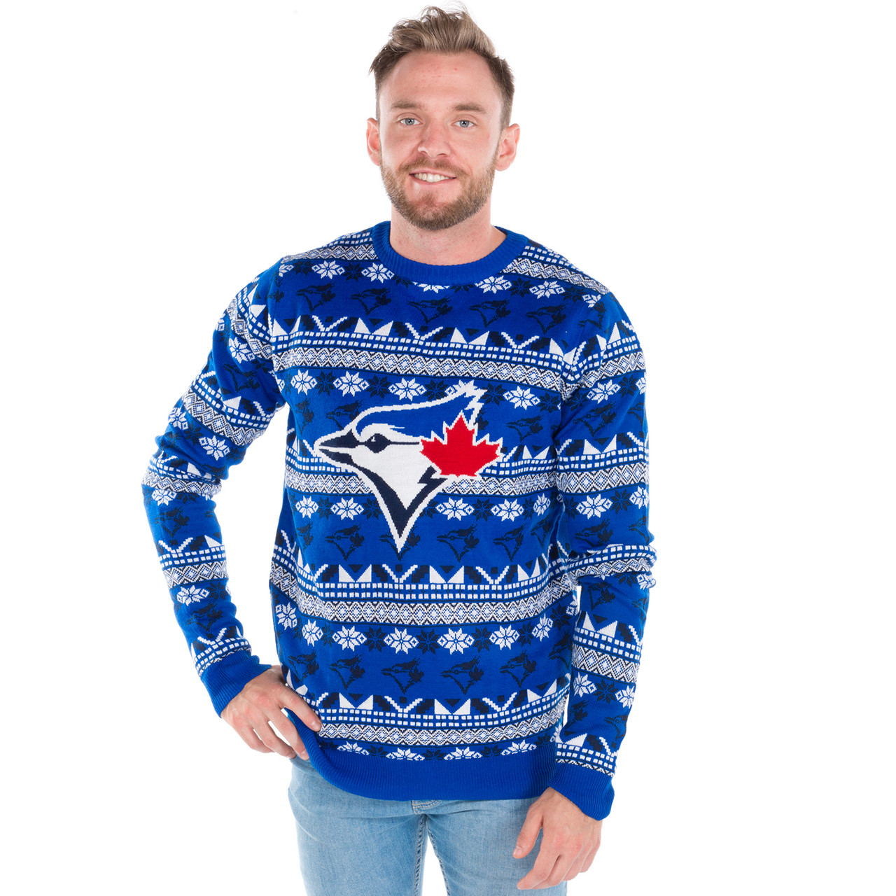 Toronto Blue Jays Ugly Christmas Sweater 2017 | RetroFestive.ca