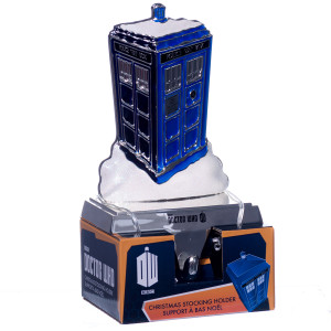 Doctor Who TARDIS Christmas stocking hanger
