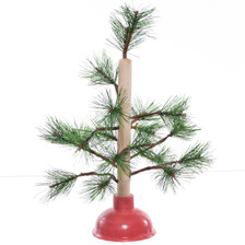"Redneck Nation 15"" Toilet Plunger Christmas Tree"