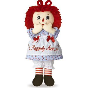 12 inch Raggedy Ann Doll by Aurora - 100 Years