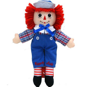 "12"" Raggedy Andy"