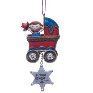 Future Cowgirl Ornament
