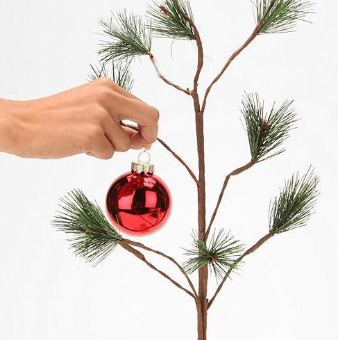 now you can decorate your very own charlie brown tree - Christmas Tree Charlie Brown