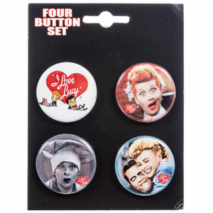 I Love Lucy Button Set of 4