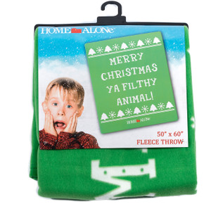 Merry Christmas Ya Filthy Animal - Green Home Alone Blanket