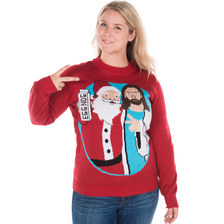 Men's Jingle Bros Santa Jesus Sweater