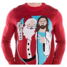 Men's Jingle Bros Santa Jesus Sweater  crop