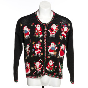 Hooray for Santa Vintage Ugly Christmas Sweater
