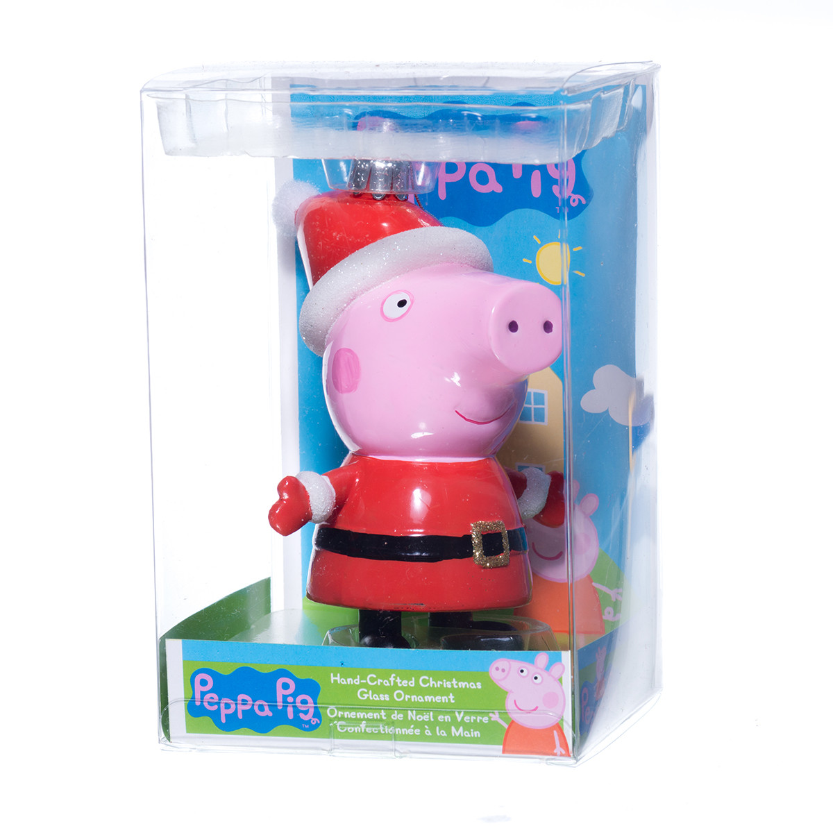 Glass Peppa Pig Ornament - RetroFestive.ca
