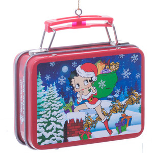 Betty Boop Mini Lunch Box Christmas Ornament - Back