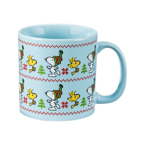 Peanuts 20 oz Ugly Sweater Ceramic Coffee Mug Front