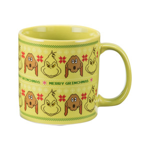 Grinch 20 oz Ugly Sweater Ceramic Mug Front