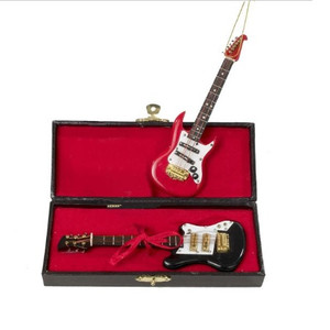 Electric Guitar with Case Ornament