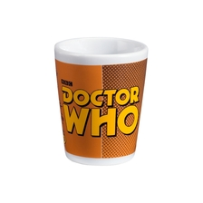 Doctor Who 4 pc Ceramic Shot Glass Set Tardis Back