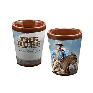 John Wayne Ceramic Shot Glass Front and Back