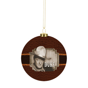 John Wayne Decoupage Ball Ornament Front