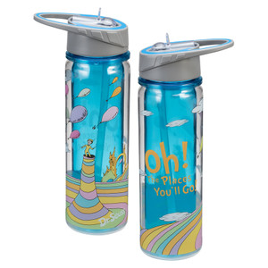 Oh the Places You'll Go Water Bottle Front & Back