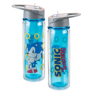 Sonic the Hedgehog 18 oz. Water Bottle Front & Back