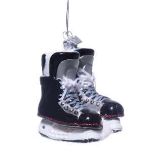 Glass Hockey Skates Ornament
