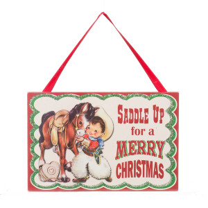 Saddle Up For A Merry Christmas Mini Wooden Ornament