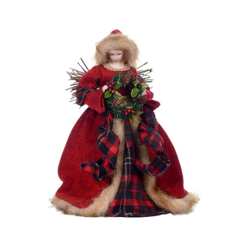Canadian Angel Christmas Tree Topper - RetroFestive.ca