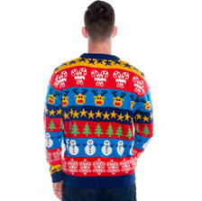 Boxing Day Mashup Christmas Cardigan rear view