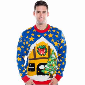 Pom Pom Xmas Cheesy Christmas Sweater on Him