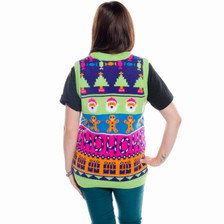 Sweet Mashup Sweater Vest Rear