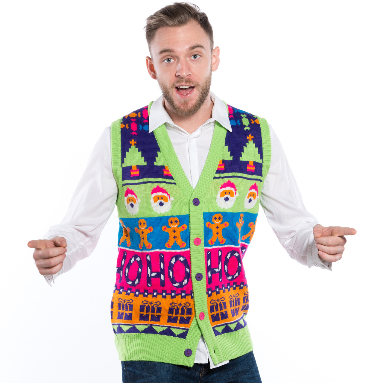 Sweet Mashup Sweater Vest Front
