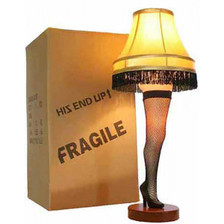 "26"" Leg Lamp with Fragile Shipping Box"