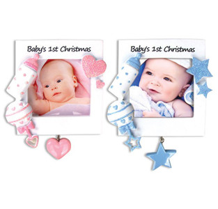 Christmas Baby Frames Personalized Ornaments