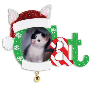 Christmas Cat Frame Personalized Christmas Ornament