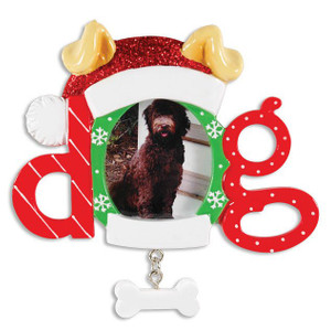 Christmas Dog Frame Personalized Ornament