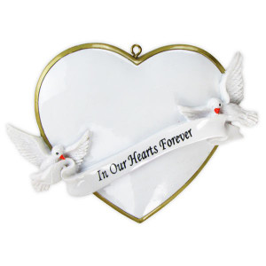 In our Hearts Forever Personalized Christmas Ornament