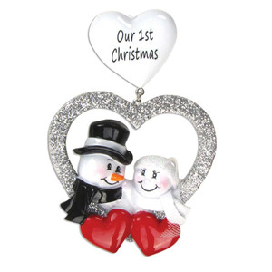 Wedding Personalized Christmas Ornament