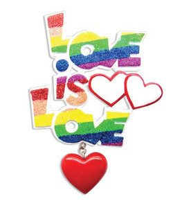 Love is Love Personalized Christmas Ornament