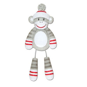 Sock Monkey Personalized Christmas Ornament