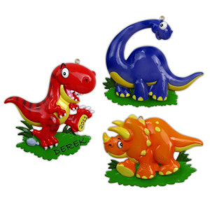 Dinosaur Personalized Ornaments