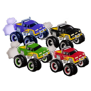 Monster Truck Personalized Ornaments