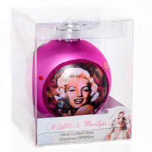 Marilyn Pink Glass Ball Ornament
