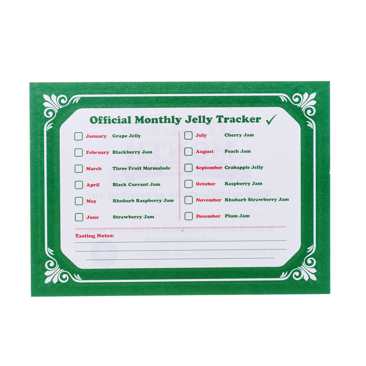 Christmas vacation griswold jelly of the month club retrofestive official jelly tracker and tasting notes jelly of the month club certificate product of canada 1betcityfo Images