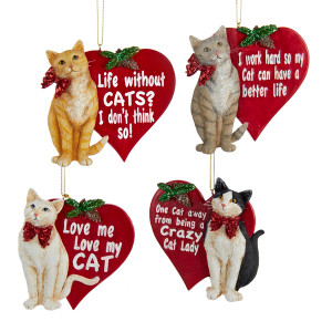 Kitty Cat Christmas Ornaments