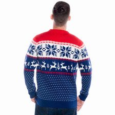 Winter Wonderland Christmas sweater rear view.