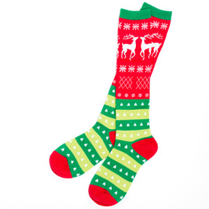 Tacky Holiday Sweater Socks