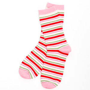 Candy Cane Stripe Women's Crew Socks