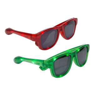 Red and Green Light Up Sunglasses